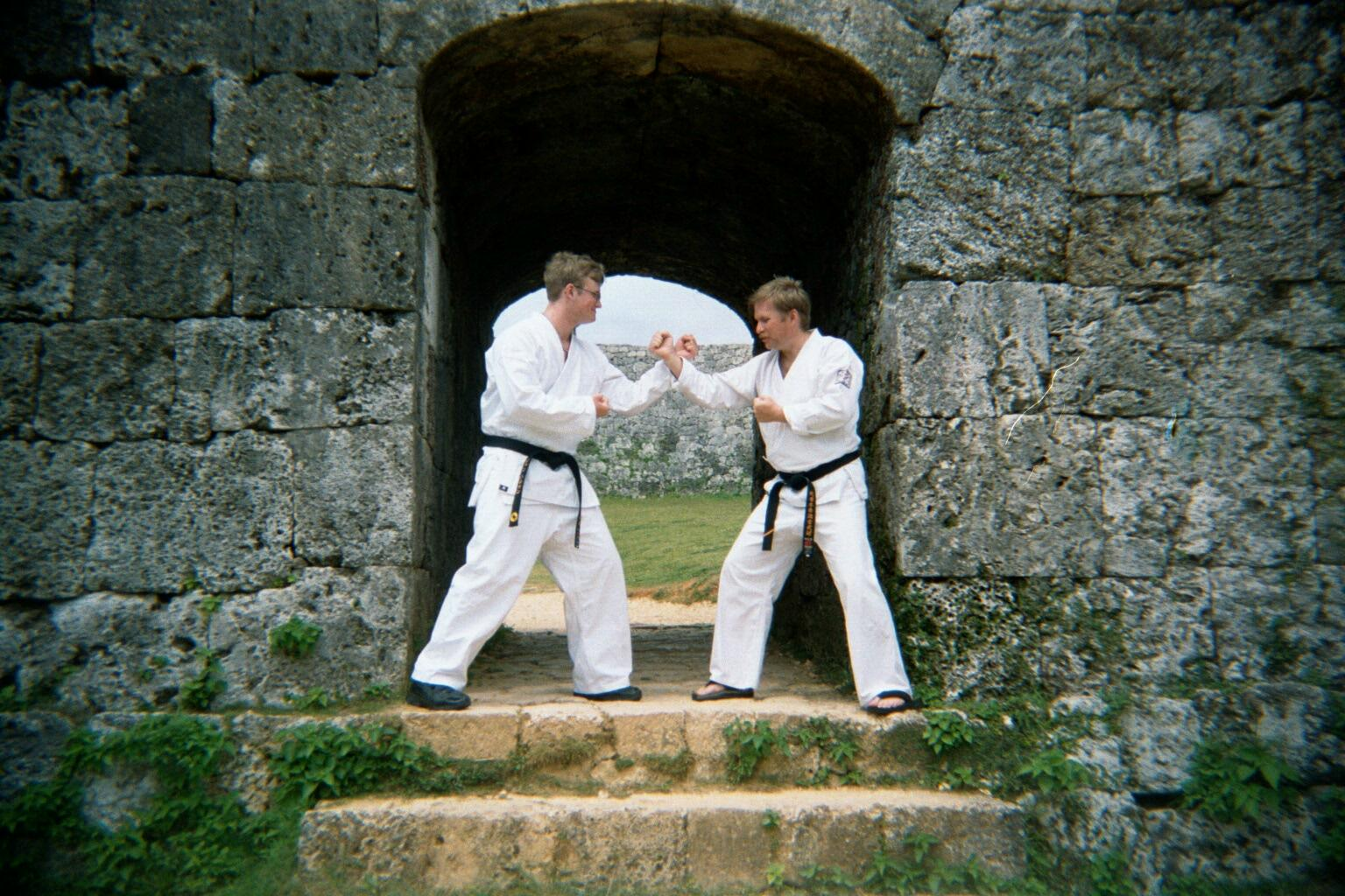 John and Ed Hershman at Zakimi castle Okinawa